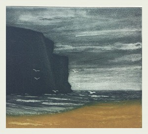 Anne-Russell-Rackwick-Bay-Etching-600x544