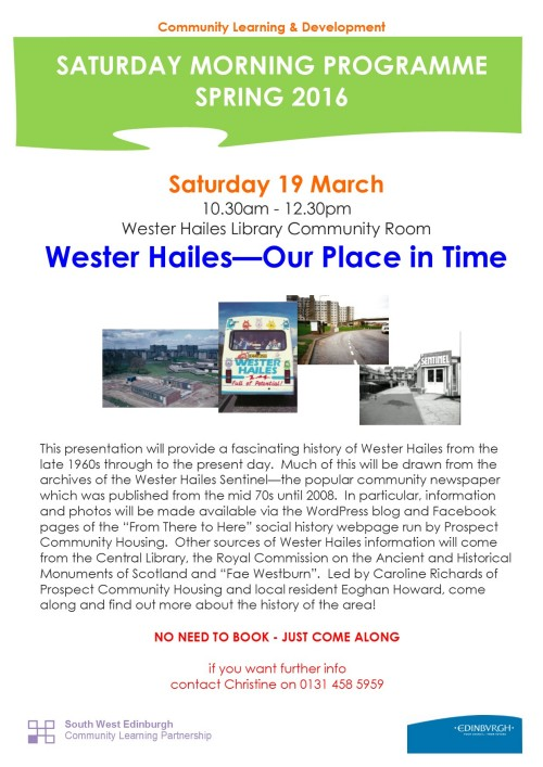 Wester Hailes Our Place in Time 19.3.16
