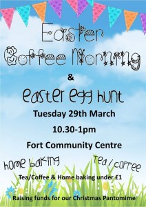 fort cc coffee morning and egg hunt