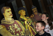 Sister and brother Iona, aged 10 (R) and Joe, aged 8 (L) Turnbull, of Edinburgh, are pictured with historical figures from Scotland's past ( William Wallace, Bonnie Price Charlie and Robert the Bruce) which will feature in a new Parliament tour. Visitors will have a chance to journey into Scotland's past while also exploring the contemporary architecture of the Parliament on this new tour. Learn about the legend of the Saltire, see the only surviving letter issued by William Wallace and discover Scotland's story as told by the Parliament building, from Robert Bruce to Bonnie Prince Charlie – and beyond… Tours will be available on: 1st August 2.00pm 3rd August 2.30pm 8th August 2.30pm 30th August 2.30pm 31st August 2.30pm Tours will take around 40 minutes and booking is essential. Please call 0131 348 5200 or email sp.bookings@scottish.parliament.uk Pic - Andrew Cowan/Scottish Parliament