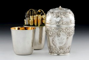 silver travelling canteen belonging to Bonnie Prince Charlie - NMS