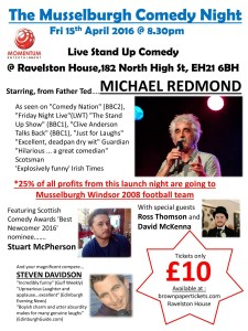 musselburgh comedy night poster