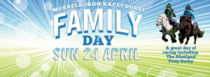 musselburgh racecourse family day poster april 2016