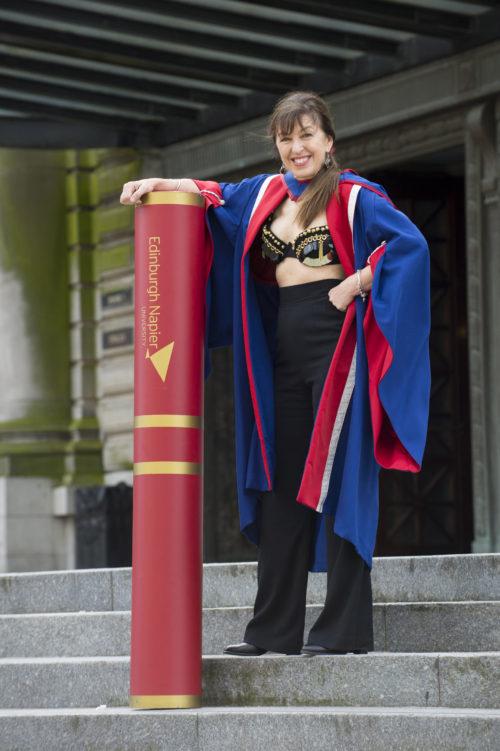 Edinburgh Napier University Honorary Graduand Nina Barough.  Honorary Doctorate,