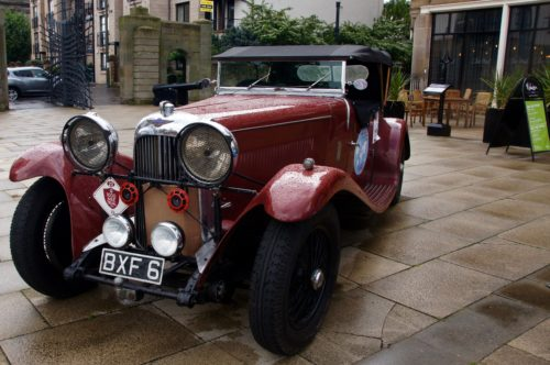 Historic Endurance Rallying Organisation arrived in Edinburgh with a selection of vintage cars parked at the Malmaison Edinburgh. They will have dinner on board Royal Yacht Britannia and leave tomorrow en route to Slaley Hall.