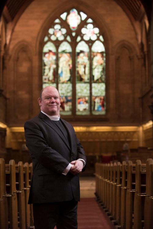 Moderator Designate of the Church of Scotland (2017) Rev Derek Browning of Morningside Parish Church, Edinburgh.