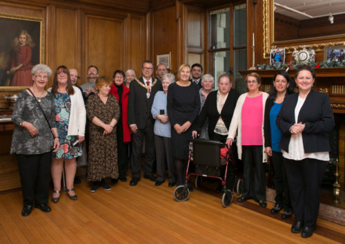 The Lord Provost with Cllr Joan Griffiths and all the Good Neighbour Award winners and nominees