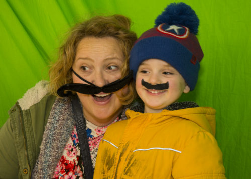 Aldi and Chirsty Reed in the photo booth