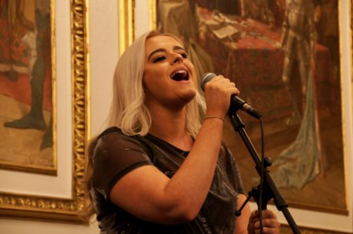 THe Lord Provost the Rt Hon Donald Wilson is holding a Burns Supper in January 2017 to raise funds for OneCity Trust. X Factor's Caitlyn Vanbeck sang at the launch and will be among the entertainers in January.