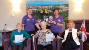 Residents at a local care home sung their hearts out when they celebrated Vera Lynn's 100th birthday by joining a nationwide sing-along.