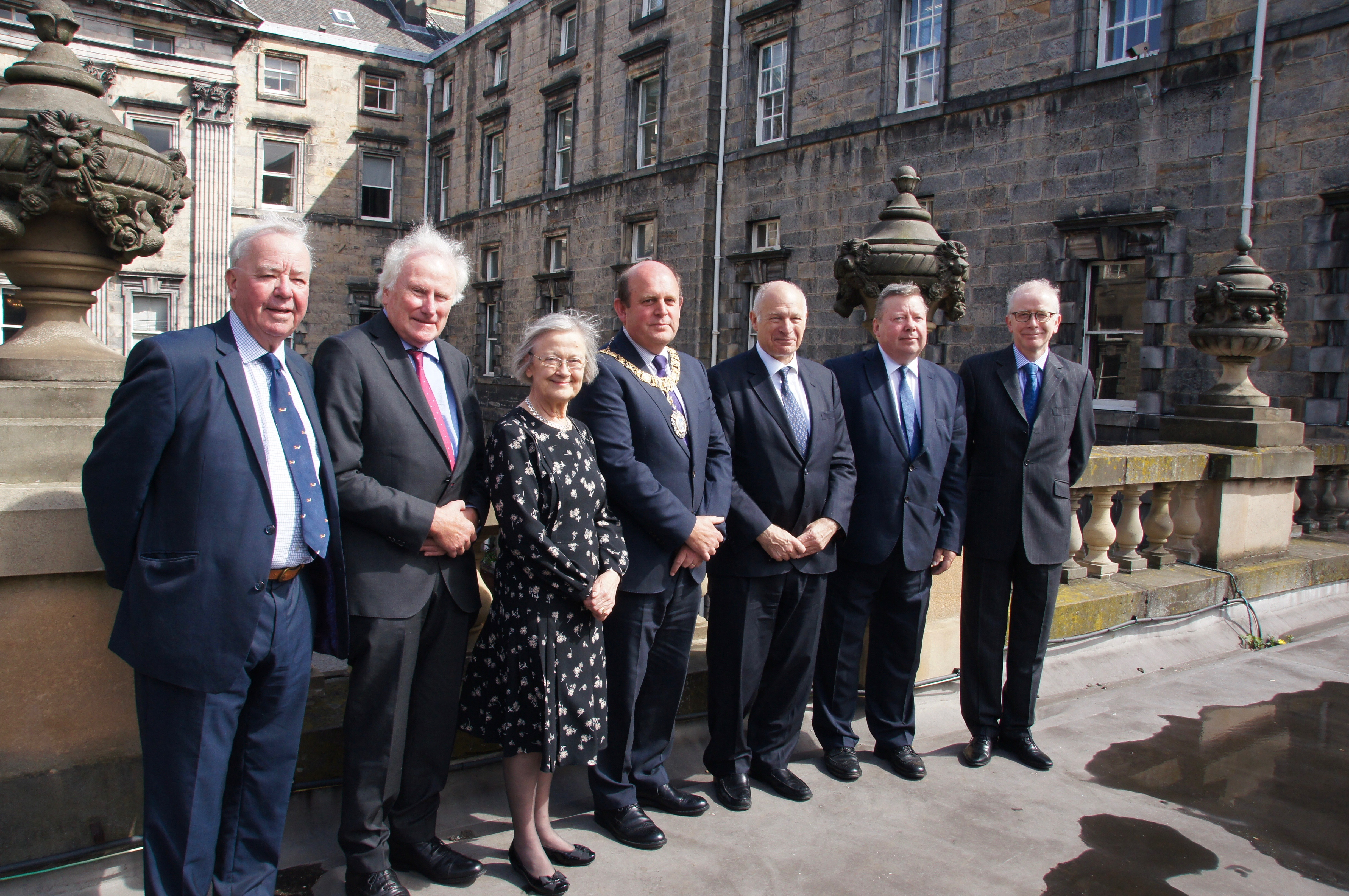 Supreme Court judges Edinburgh with the Lord Provost
