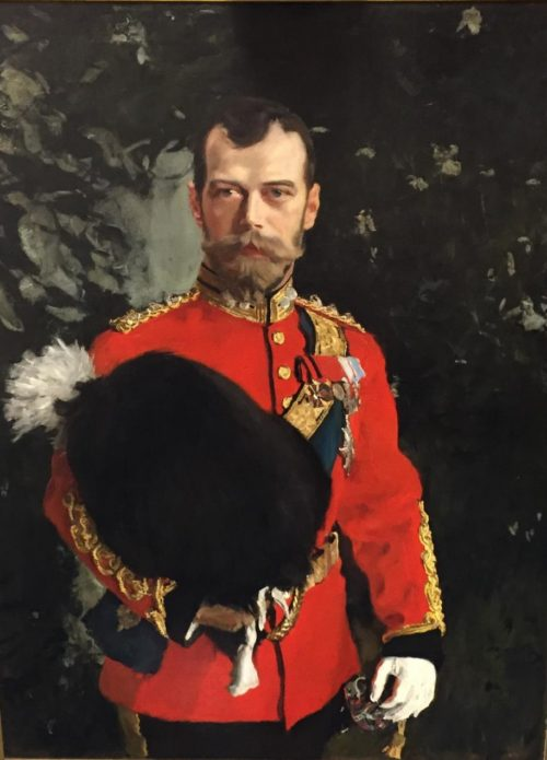 Portrait of His Imperial Majesty Nicolai II Alexandrvitch, Tsar of All the Russias, 1902 by Valentin Serov (1865-1911). Collection: The Royal Scots Dragoon Guards Regimental Trust, Edinburgh Castle