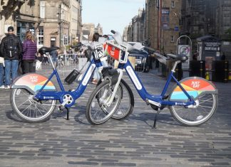 Two hire bikes