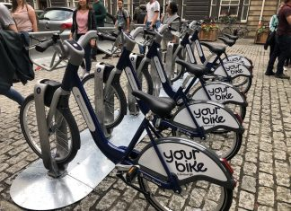 Bicycle station in the city centre