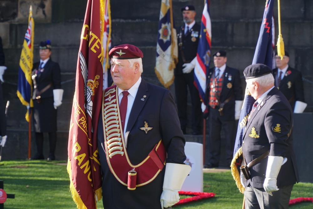 Standard bearers at the Garden of Remembrance opening ceremony 2018
