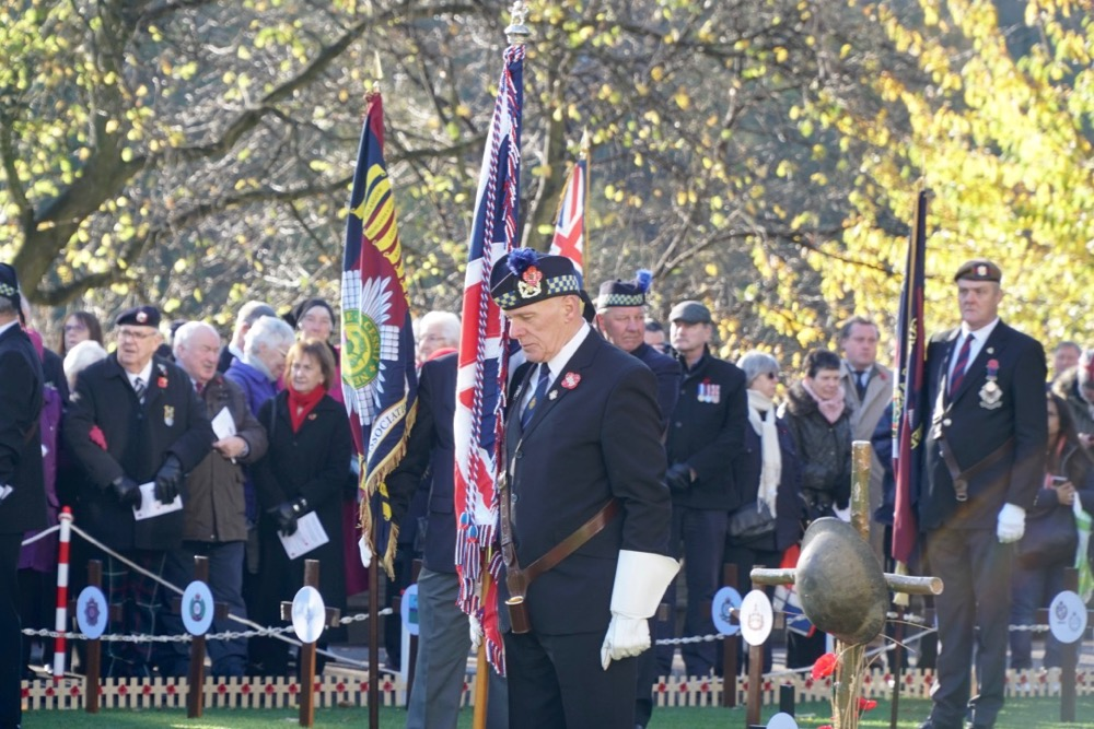 Standard Bearer at the Garden of Remembrance opening ceremony 2018