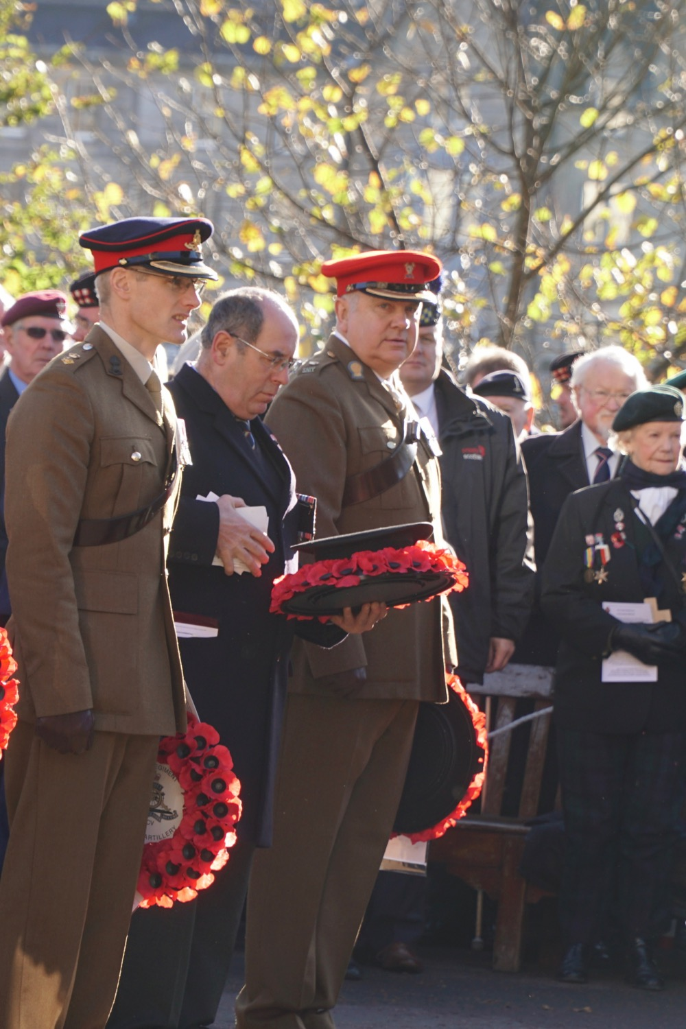 Wreath layers at the Garden of Remembrance opening ceremony 2018