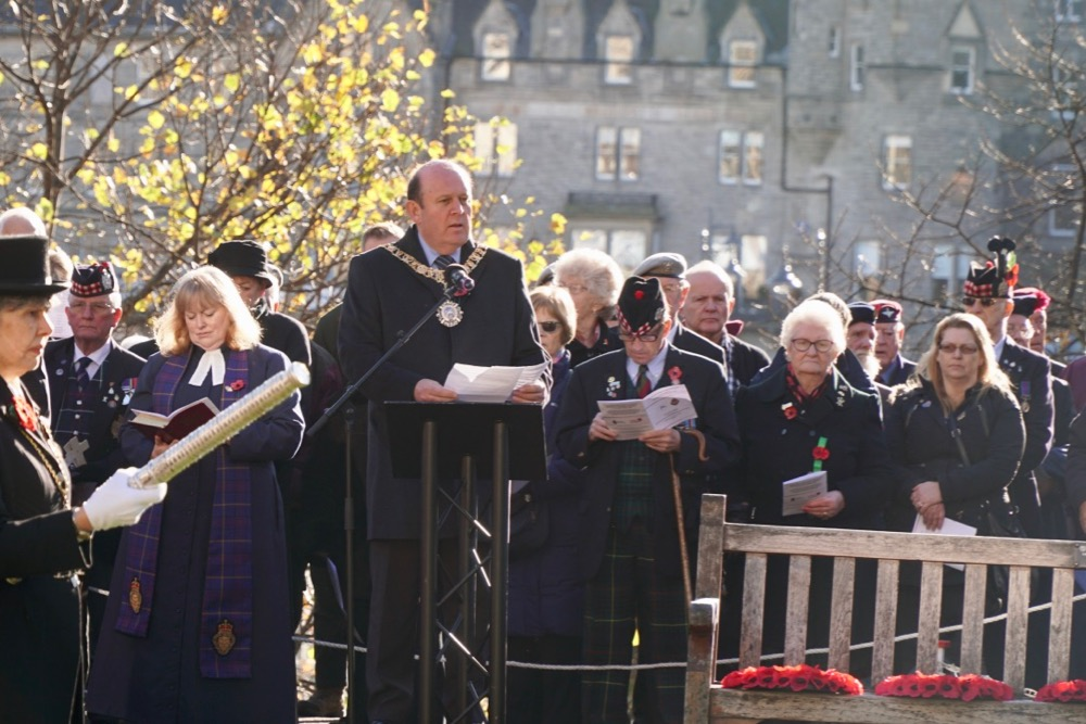 The Lord Provost Frank Ross at the Garden of Remembrance opening ceremony 2018