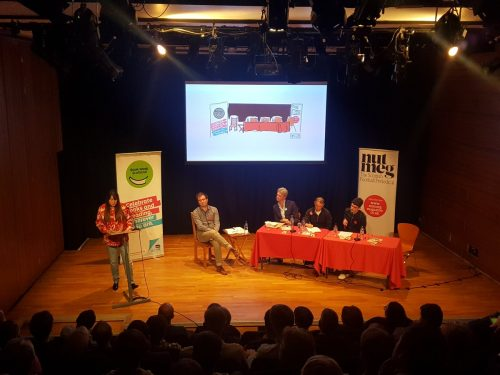 The panellists at Book Week Scotland's event with Nutmeg Magazine at the Storytelling Centre on Edinburgh's High Street