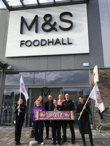 The front entrance to M&S Food Hall at Edinburgh's Chesser Avenue