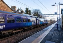 Scotrail train at Linlithgow Station