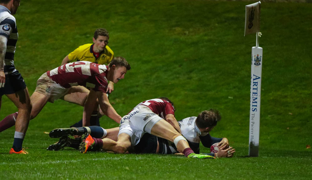 Extra time try for Heriots' Craig Robertson