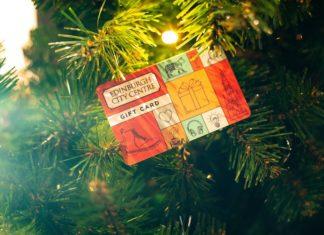 card in a Xmas tree