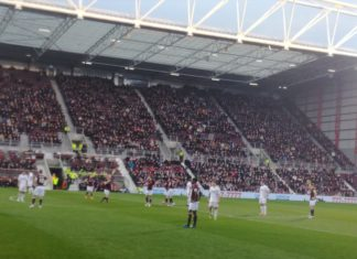 Hearts against Hamilton Accies at Tynecastle on Boxing Day 2018