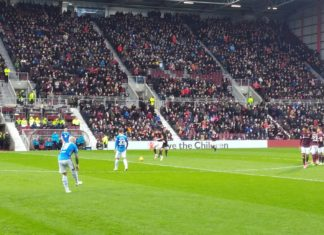 Action from Hearts v St Johnstone at Tynecastle, 26th January 2019