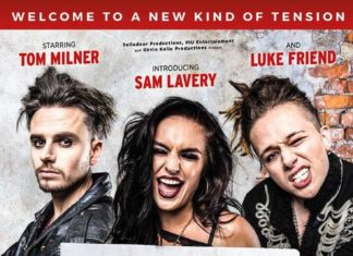 Some of the cast of American Idiot, the musical at the Edinburgh Playhouse performing until Saturday 9th February 2019
