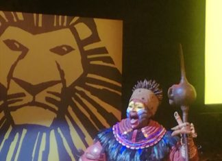 Charachter from Disney's The Lion King which will be performed at the Edinburgh Playhouse in December 2019