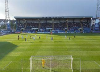Dens Park, Dundee, scene of Hearts v Dundee, 9th March 2019