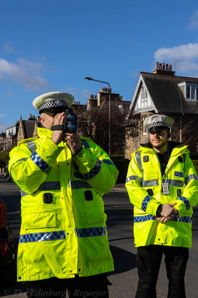 Two police officers in high-vis jackets