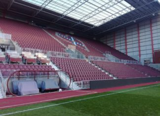 The new stand at Tynecastle Park