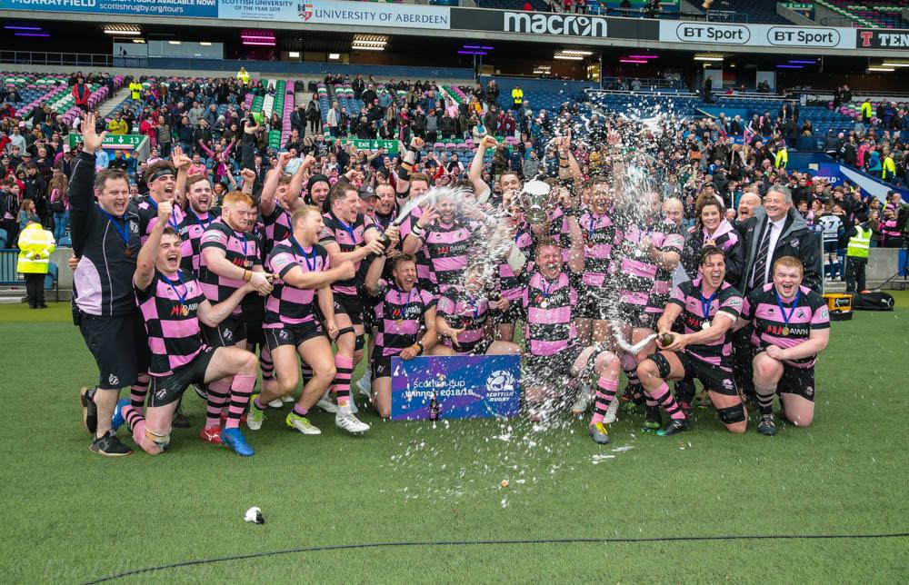 Ayr celebrate their win