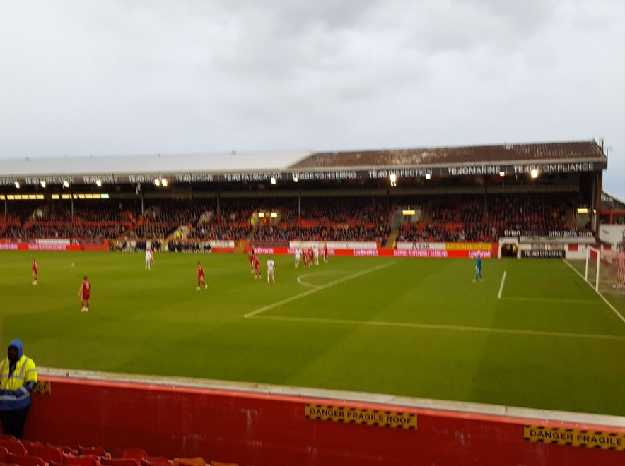 Action from Pittodrie Stadium, Aberdeen, 10th May 2019