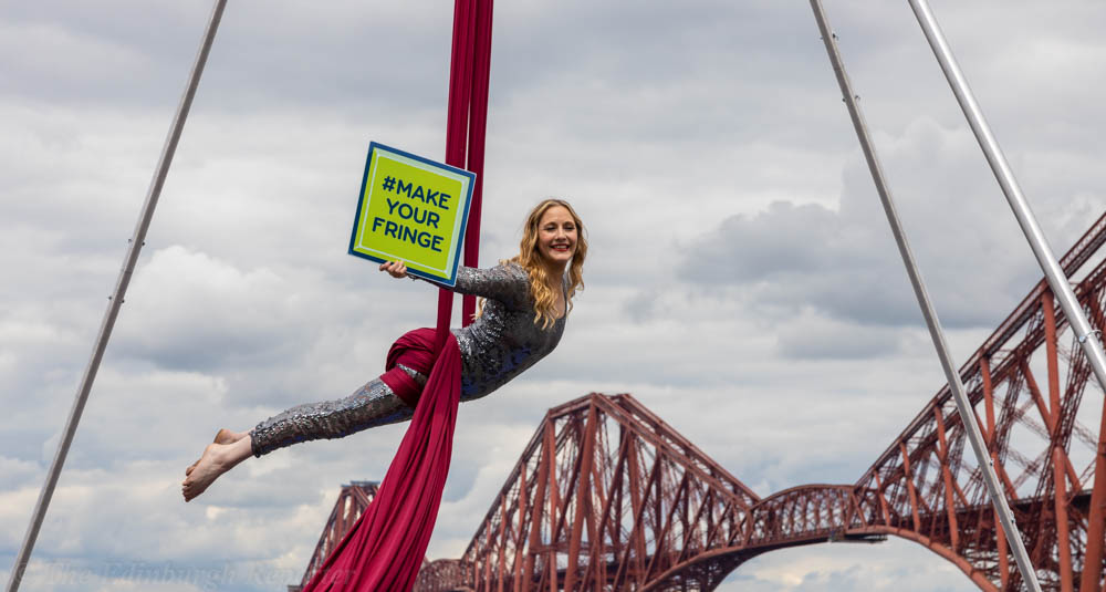 Aerialist with Fringe Programme