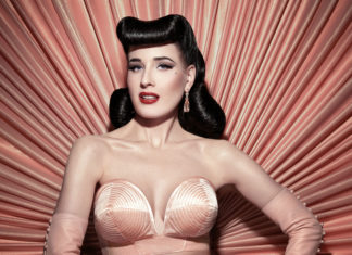 Dita Von Teese, the American vedette, burlesque dancer, singer and actress