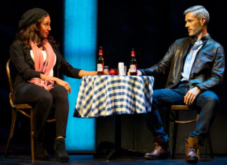 Alexandra Burke and Benoit Marechal in The Bodyguard The Musical at the Edinburgh Playhouse on until 20th July 2019