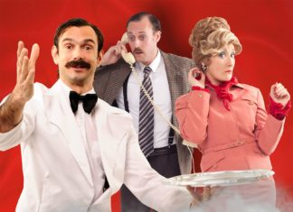 The cast of Faulty Towers - The Dining Experience at the Edinburgh Festival Fringe
