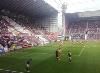 Hearts v Motherwell at Tynecastle on 14th September 2019