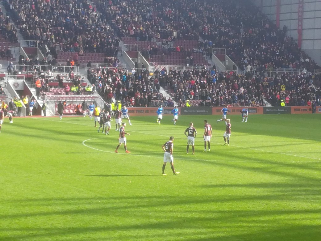 Action from Hearts v Rangers at Tynecastle, Sunday 20th October 2019
