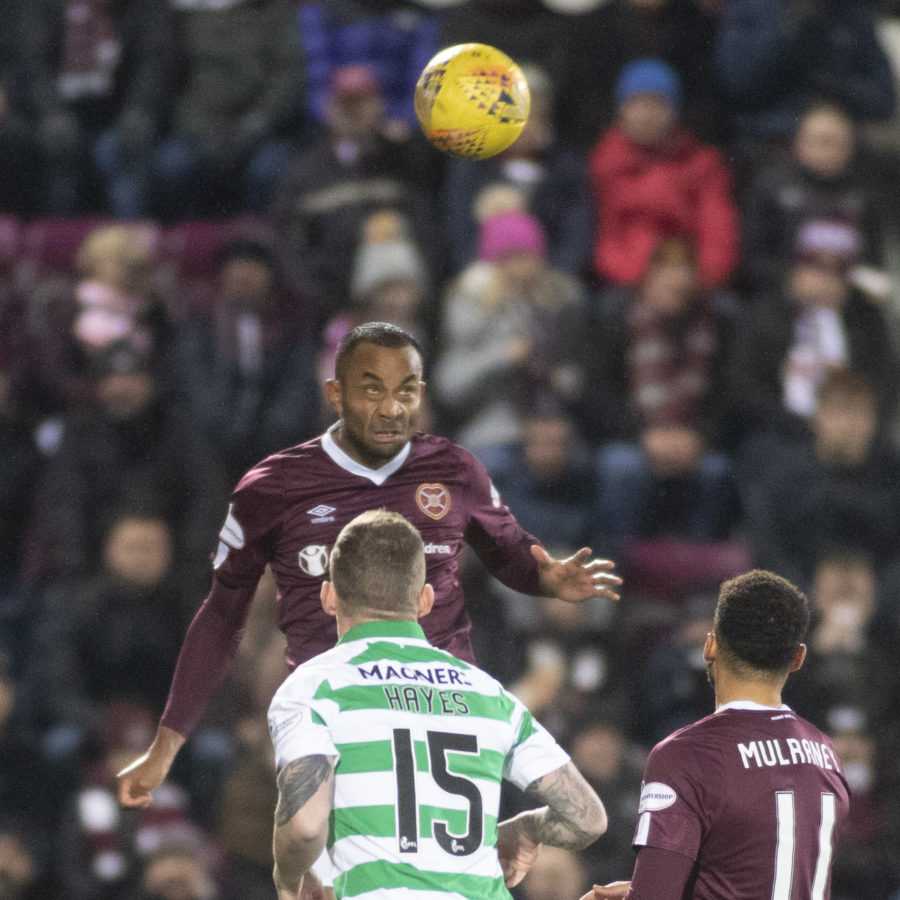 Actiomn from Hearts v Celtic at Tynecastle 18th December 2019