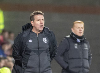 Hearts manager Daniel Stendel and his Celtic counterpart Neil Lennon