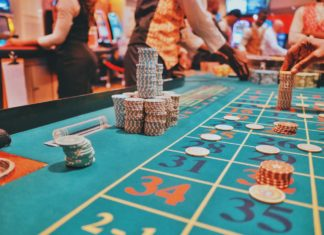 An image of a casino table